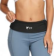 YF Running Belt, Soft Small Running Fanny Pack Slim Belt Waist Packs Phone Holder Money Key Pouch Belt for Men