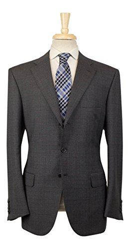 Brioni Wool Suit (BRIONI Chigi 21 Gray Glen Plaid Wool 3 Roll 2 Button Suit Size 52/42 R)