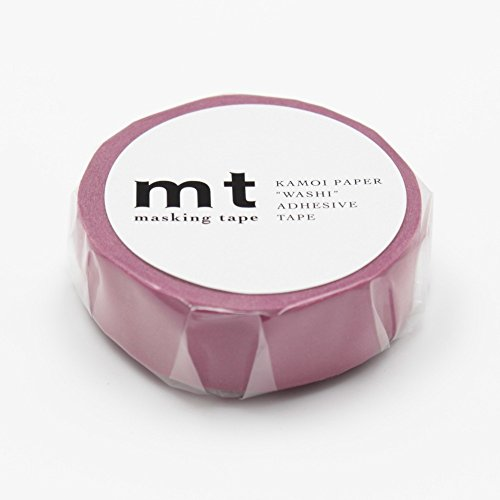 "MT Solids Washi Paper Masking Tape, 3/5"" x 33', Wine (MT01P195)"