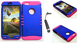 CellTx Shockproof Hybrid Case For Apple (iPhone 6 Plus) and Stylus Pen, Hot Pink Soft Rubber Skin with Hard Cover (Non Slip, Blue) AT&T, T-Mobile, Sprint, Verizon, Boost Mobile, U.S Cellular, Cricket by Maris's Diary