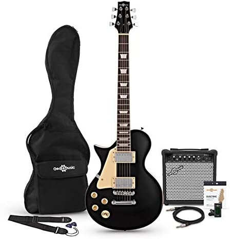 Set de Guitarra Electrica New Jersey Zurda Black: Amazon.es ...