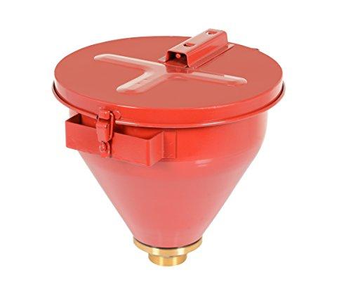 Vestil DF-S Steel Drum Funnel with Self Closing Lid, 18-1/8