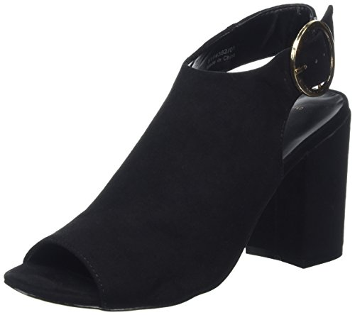 Donna Look Nero Spuntate Raspy Black Scarpe New 6fqU40