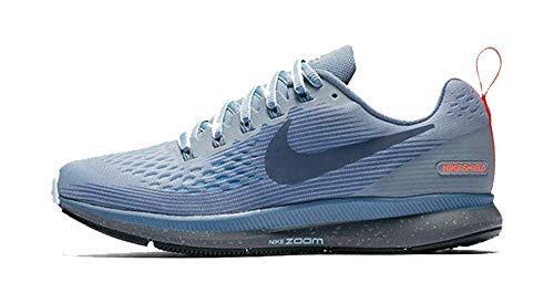(Nike Women's Air Zoom Pegasus 34 Running Shield Shoe Wolf Grey/Thunder Blue-Dark Sky Blue 11.0)