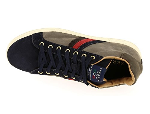 Sneakers Uomo Serafini mid banda laterale Tortora Nabuk, nuova collezione autunno inverno 2017/2018 Tortora