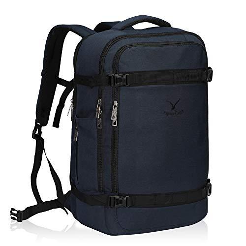 Hynes Eagle 40L Travel Backpack Airline Approved Carry on Backpack Weekender Bag for Women Men, Dark Blue