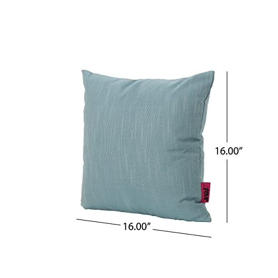"""Christopher Knight Home Belflower Outdoor Water Resistant Square Pillow, 16"""" x 16"""", Teal - Add some color to your patio set with this water resistant outdoor pillow Made from top quality fabric that won't absorb every drop of water and dirt, this pillow was designed with both the outdoors and your patio in mind Manufactured in China - patio, outdoor-throw-pillows, outdoor-decor - 41aPWl45FqL. SS570  -"""