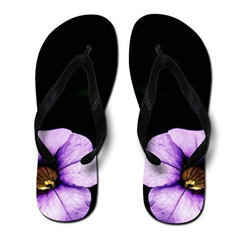 PurpleBlossomPrintedUnisexFlipFlops,Medium