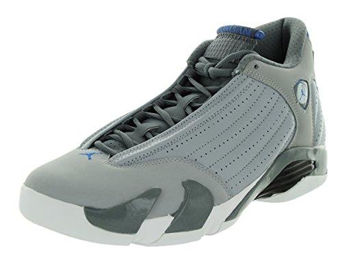Nike Air Jordan 14 Retro Basketball Schuhe Wolf Grey / Sprt Blau / Cl Gry / Wht
