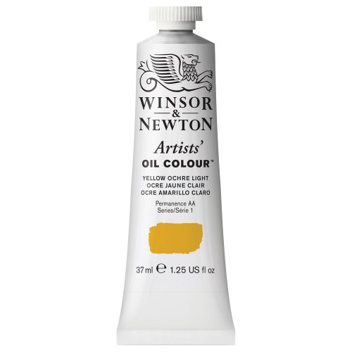 Winsor & Newton Artists' Oil Colour Paint, 37ml Tube, Yellow Ochre Light