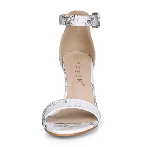 Strap Ankle Printed Allegra Sandals K floral Gray Women's Light wZIx4q