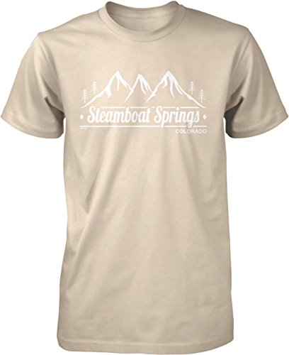 NOFO Clothing Co Steamboat Springs, Colorado Men's T-Shirt, M Putty