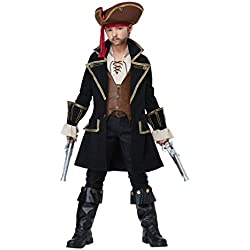California Costumes Deluxe Pirate Captain Costume, Multi, X-Large