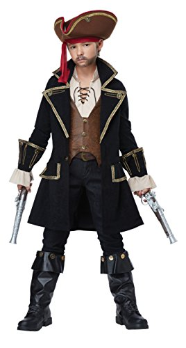 Boys Swashbuckler Costume - California Costumes Deluxe Pirate Captain Costume, Multi, X-Large