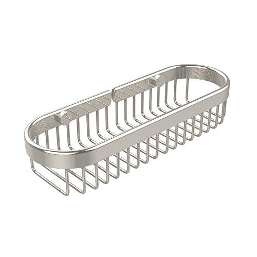 Allied Brass BSK-200LA-PNI Oval Toiletry Wire Basket Polished Nickel