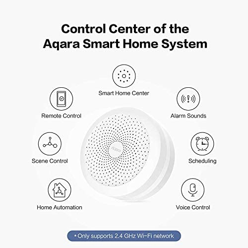 Aqara Motion Sensor plus Aqara Hub, Zigbee Connection, for Alarm System and Smart Home Automation, Broad Detection Range, Compatible with Apple HomeKit, Alexa 41aPYCwnowL
