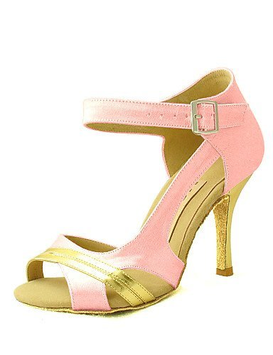 ShangYi Blue Heel Fuchsia Purple Dance Women's Latin Customizable Pink Satin Red Customized White Salsa Pink Black Shoes Yellow rvqAr4wU