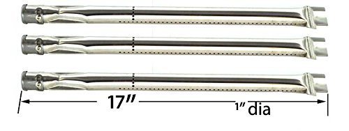3 Pack Stainless Steel Burner For Strada STRD3, STRD4R, Weber 300043 & Ducane Home Depot Gas Grill Models