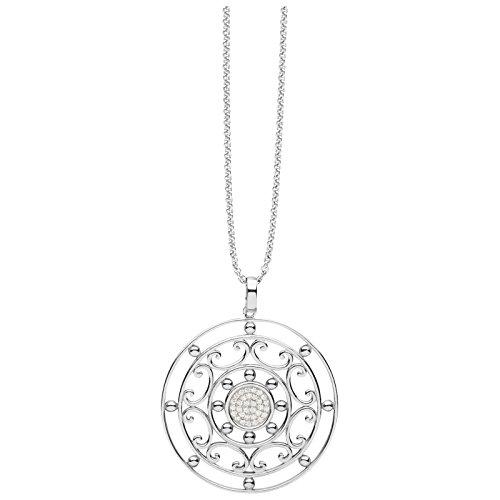Silver Trends Collier avec pendentif en argent avec avec Oxyde de Zirconium-60cm st1339