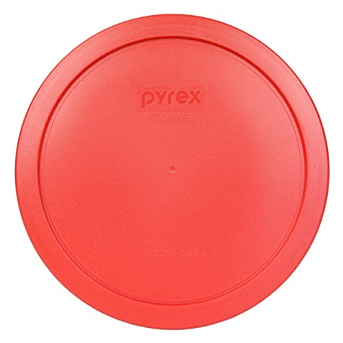 Glass Dia Top (Pyrex 7402-PC Red Round Storage Replacement Lid Cover fits 6 & 7 Cup 7