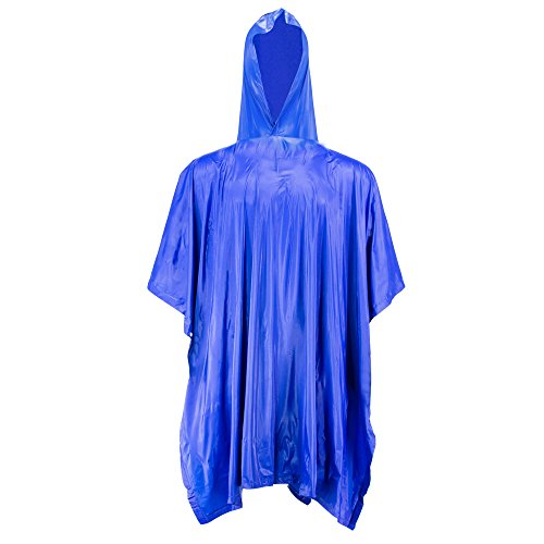 H&C Bike Rain Poncho Hoods and Sleeves,Blue-super Large,One Size by H&C