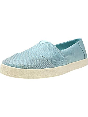 TOMS Women's Avalon Pastel Turquoise Shiny Woven 8.5 B US ()