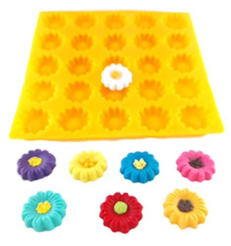 Flexible Molds - Daisy or Sunflower (25 cavity) - Cream Cheese Mint Molds - Candy Melts - Fondant - Caramels - Soft Candy Molds