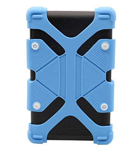 """Tablet Case Kids Shockproof Silicone Stand Case Protective Cover with Stand for iPad Air,iPad Mini,Kindle,Q8,Samsung Galaxy Tab,Verizon Asus RCA and More. (Universal 8.9"""" - 12"""" Tablets Case, Blue)"""