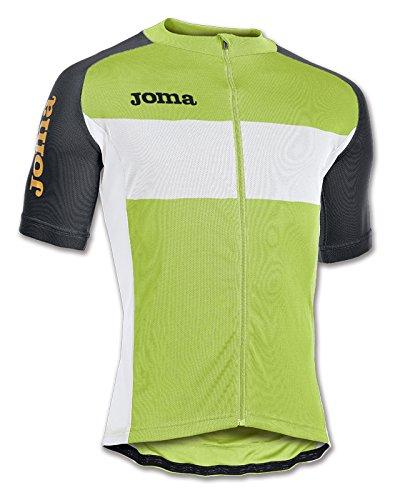 Jomaメンズツアー半袖サイクリングジャージー Medium Fluorescent Green / Black / White B0107SO65E