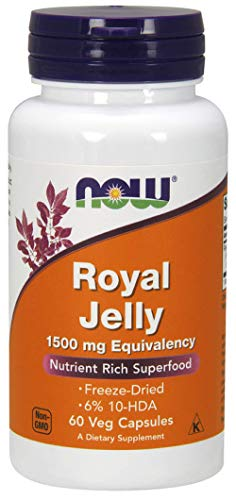 NOW Foods Royal Jelly 1500mg, 60 Capsules (Pack of 2) ()