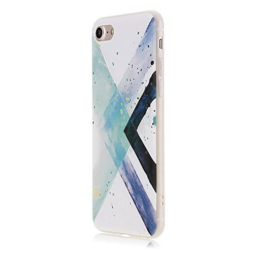 VANKER Élégant Artistique 3D Relief Coque Souple Couverture pour iPhone 6 Plus / 6s Plus(Vert)