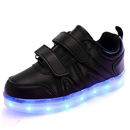 LASYMIE ,  Unisex Kinder Sneaker Low-Tops , schwarz - schwarz - Größe: 36 EU