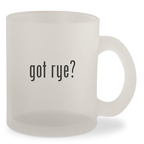 got rye? - Frosted 10oz Glass Coffee Cup Mug (1 Light Templeton)