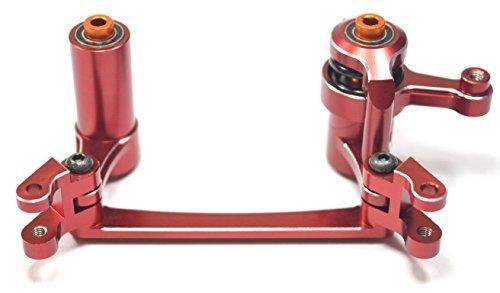 Dhawk Racing Aluminum Steering Bellcrank /w Bearing & Steering Posts Red For Yeti XL AX90032 AX90038