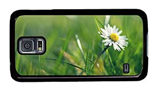 Hipster Samsung Galaxy S5 Case brand new covers daisy meadow PC Black for Samsung S5 by runtopwell