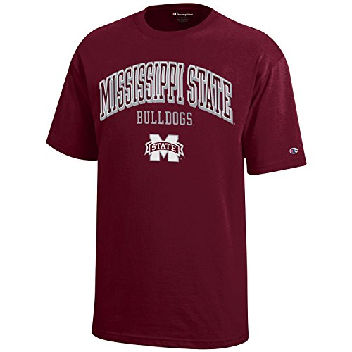 NCAA Champion Boy's Short Sleeve Jersey T-Shirt Mississippi State Bulldogs Large