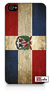Distressed Look Dominican Republic National Flag iPhone 5C Quality Hard Snap On Case for iPhone 5C - AT&T Sprint Verizon - White Case