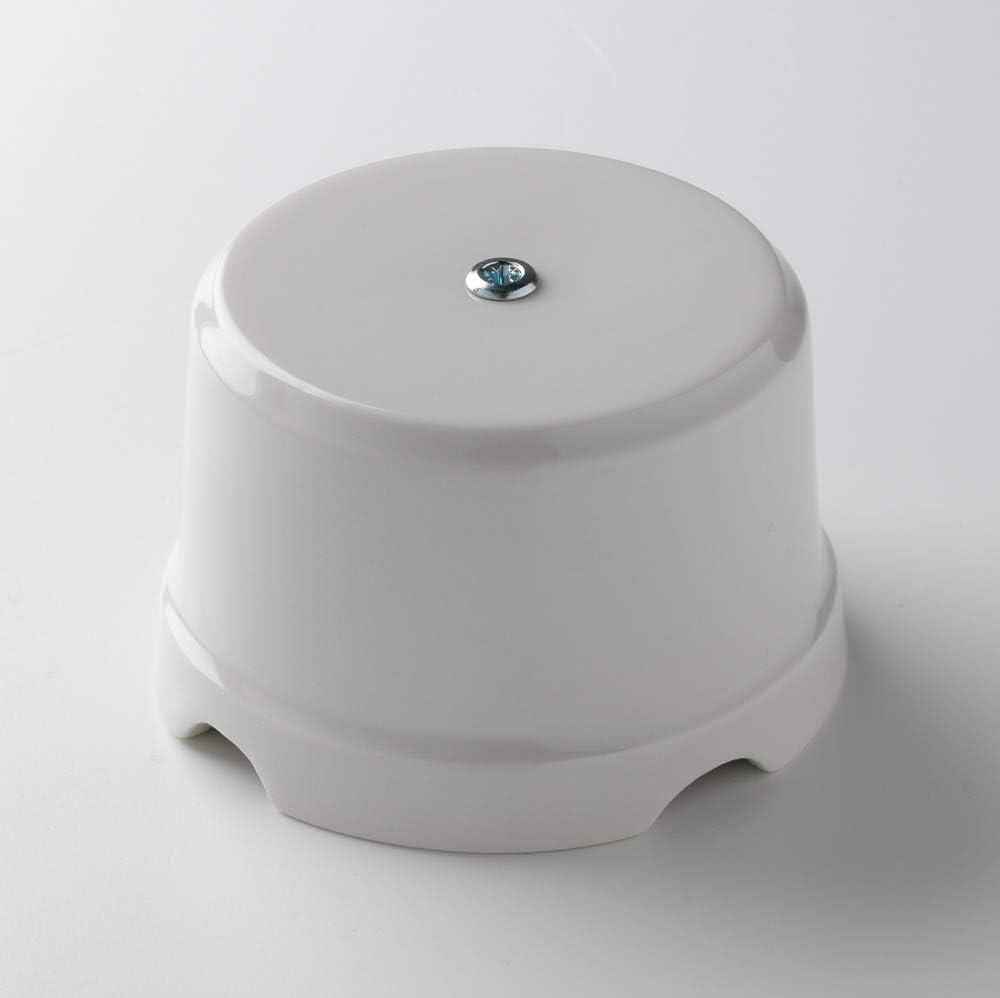 Klartext BELLE EPOQUE - Caja de derivación (75 mm de diámetro, porcelana), diseño vintage, color blanco: Amazon.es: Bricolaje y herramientas