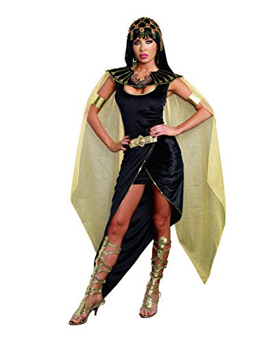 Dreamgirl Women's Cleo Egyptian Queen Costume, Black, X-Large
