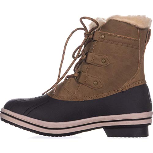 Cold Weather Ankle Boot - BEARPAW Womens Gina Almond Toe Ankle Cold Weather Boots, Hickory 2, Size 8.0