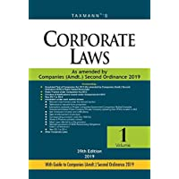 Corporate Laws-As Amended by Companies (Amdt.) Ordinance 2018 (Paperback Pocket Edition) (Set of 2 Volumes) (39th Edition 2019)
