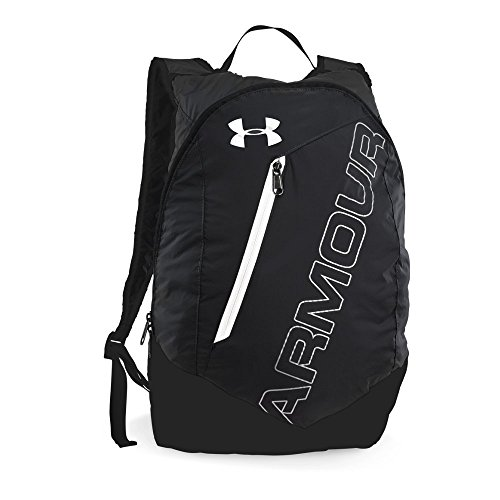 Under Armour Packable Backpack, Black (004)/White, One Size