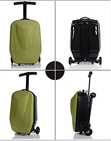 Whole Saling Good Quality Skateboard Rolling Luggage Scooter Suitcase on Wheels 20 Wine