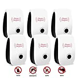 Ultrasonic Pest Repeller, Pest Control Ultrasonic Repellent, Non-toxic Spider Repellent, Pest Repellent Plug in Spider Repellent Indoor for Mosquito Spider Ant Mice Roach and other Insects (6 packs)