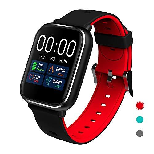 CRATEC W5s Full Touch Screen Fitness Tracker Heart Rate Sleep Monitor Blood Pressure Waterproof Smart Watch, Long Battery Life Bluetooth Activity Tracker, Large Screen Sports Band for Men Women - Tech Watch Heart