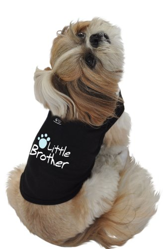Ruff Ruff and Meow Doggie Tank Top, Little Brother, Black, Medium