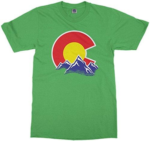 Threadrock Kids Colorado Mountain Youth T-Shirt XL Grass Green