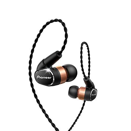 Pioneer Hi-Res in-Ear Ergonomic Tangle Resistant Premium Dynamic Headphones, Black SE-CH9T(K) (Pioneer In Ear Headphones)