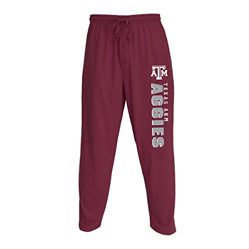 Concepts Sport Men's NCAA Knit Solid Pajama Pants with Logo-Texas A&M Aggies-Maroon-XL