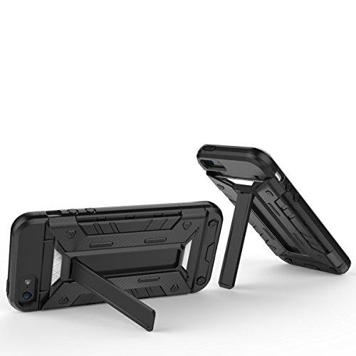 JIALUN-carcasa de telefono Caso de IPhone5s SE, PC + TPU desmontable 2 en 1 contraportada Caja fresca del teléfono ( Color : Brass , Size : Iphone5s Se ) Black